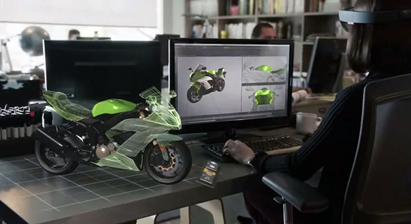 Mixed Reality motorcycle