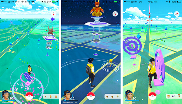 Pokemon Go screen shots