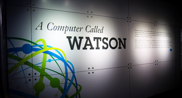 A computer called Watson graphic on wall