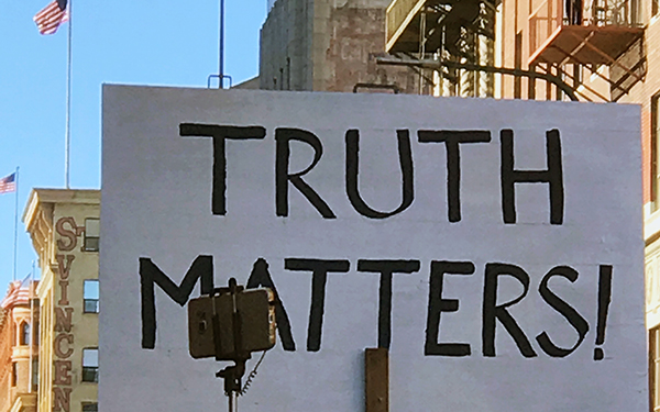 Truth Matters sign