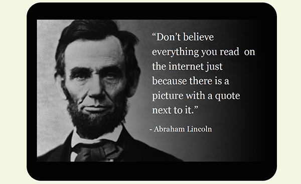 Abraham Lincoln quote graphyic