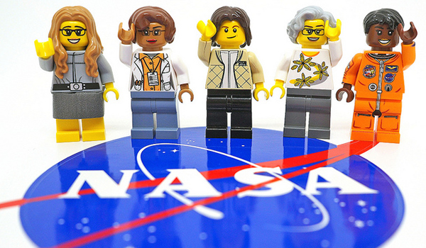 women engineers as Lego pieces on NASA emblem