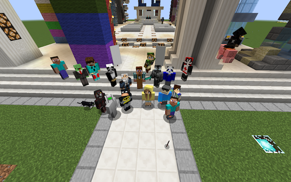 Screenshot of Minecraft characters
