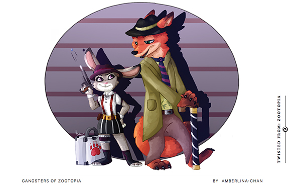Gangsters of Zootopia drawing By Amberlina-Chan