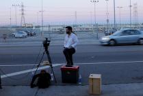 Juan Devis filming outside