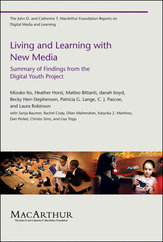 Living and Learning with New Media cover page