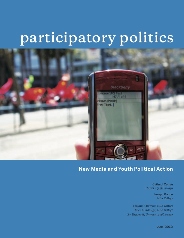Participatory Politics: New Media and Youth Political Action cover page