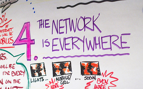 Theme 4 from Larry Johnson Keynote that the Network is Everywhere