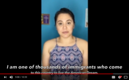 Video Screenshot of immigrant video