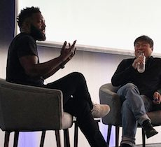 Baratunde Thurston and Joi Ito at the 2018 Connected Learning Summit