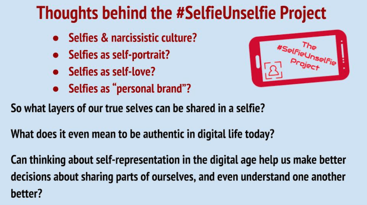 Graphic for thoughts behind the #SelfieUnselfie Project