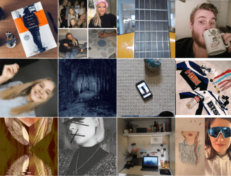 Photo grid of #SelfieUnselfie Project images
