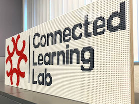 Connected Learning Lab logo LEGO mosaic