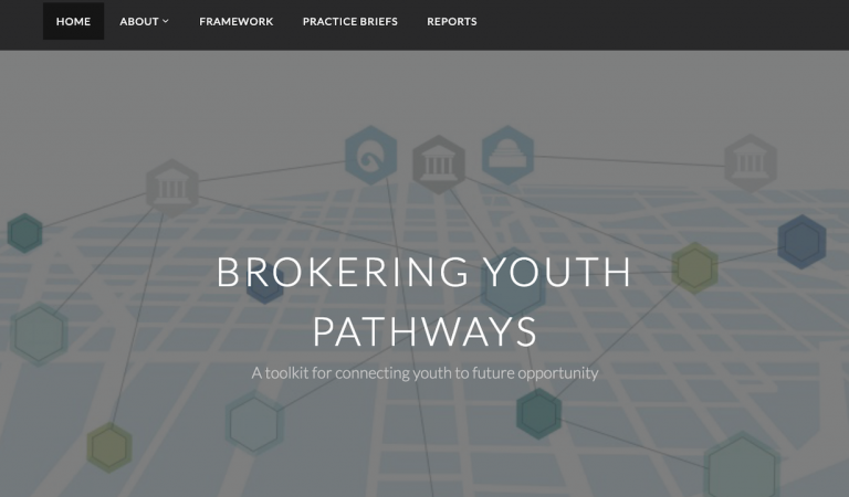 Brokering Youth website homepage