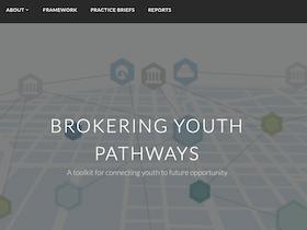 Brokering Youth Pathways website screenshot