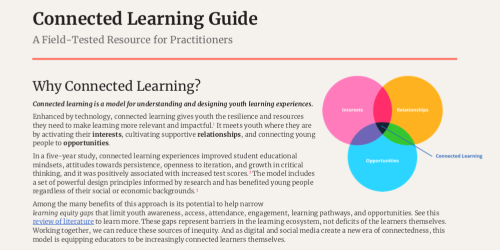 Connected Learning Guide graphic