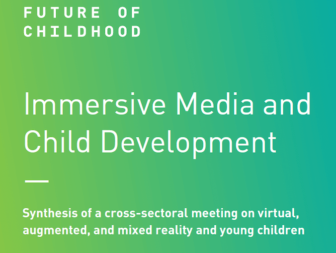 Immersive Media and Child Development Report Cover Image