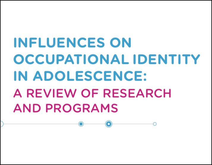 Influences on Occupational Identity Report Cover Graphic