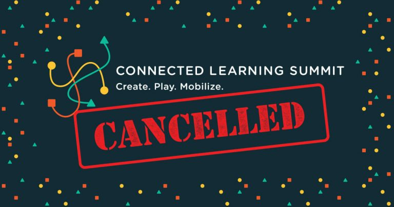 Connected Learning Summit 2020 event cancelled graphic