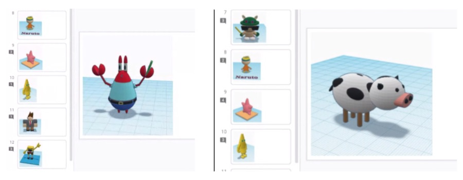 TinkerCAD 3D Characters