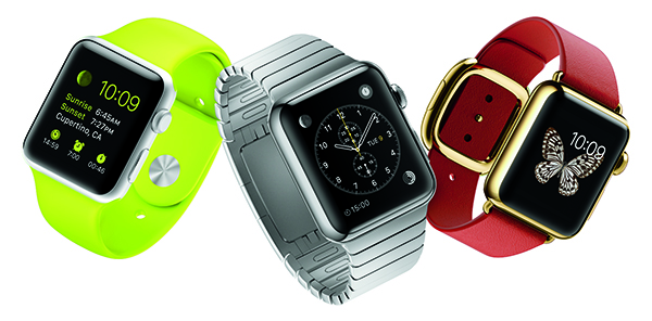 neon silver red apple watches ad