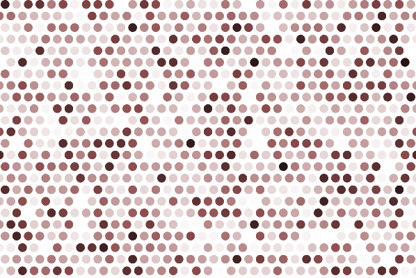 page covered in pink white brown dots
