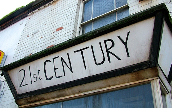 outside building sign 21st century