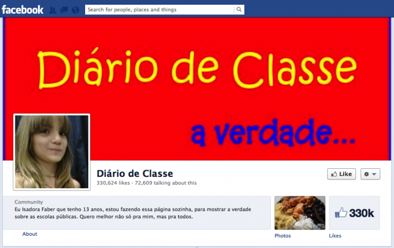 diario de classe facebook group page