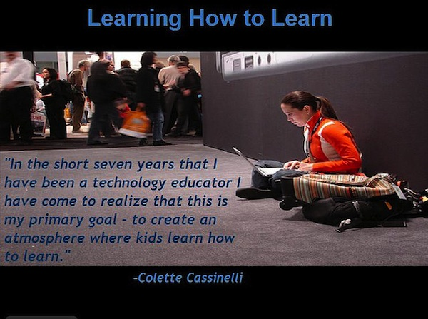 Colette Cassinelli quote learning how to learn