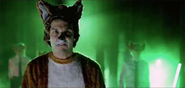 screen shot of what does the fox say music video