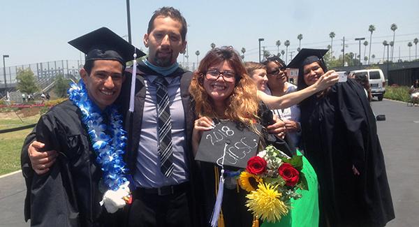 garcia gomez family graduation photo