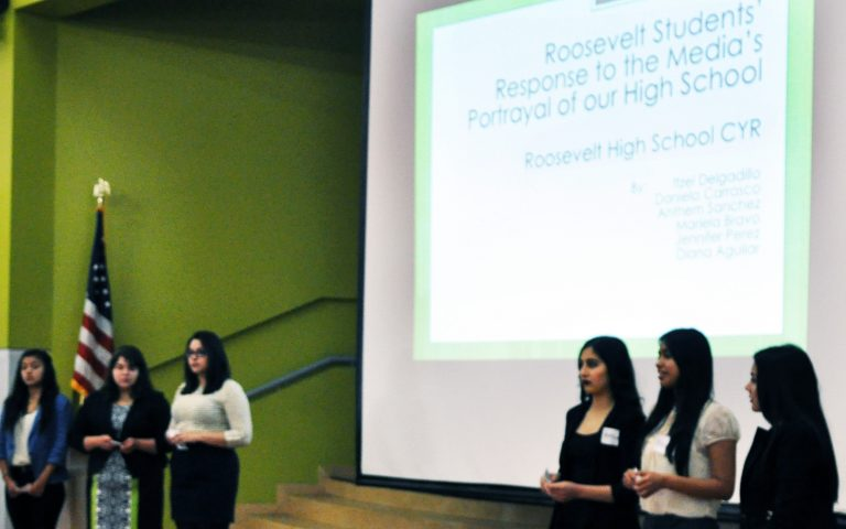 Roosevelt High school female student presentation response to media's portrayal of our high school