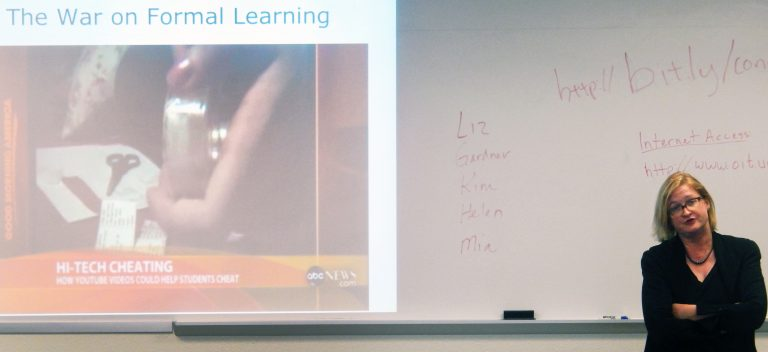 classroom presentation about War on Formal learning