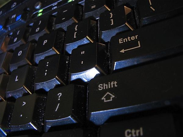 close up on black keyboard