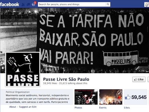 passe livre sao paulo political organization facebook group page