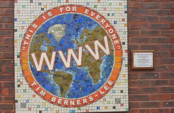 WWW mural of the world this is for everyone tim berners-lee quote