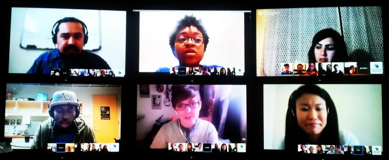 6 young people on video conference call together for YPP